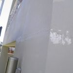 Bodgy Render Repair - scraping out the filler