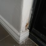 Skirting repair - before