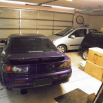 3 cars in a 2 car garage