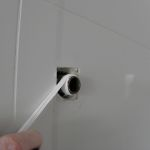 Leaking shower head repair, add fresh thread tape